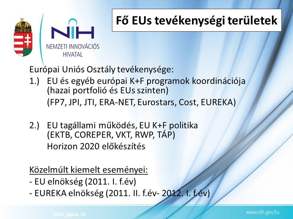 Fő EUs tevékenységi területek