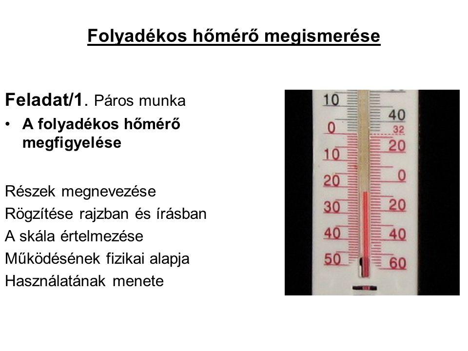 Folyadékos hőmérő megismerése