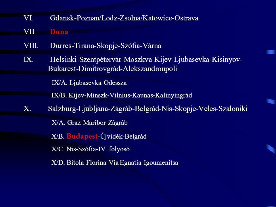 Gdansk-Poznan/Lodz-Zsolna/Katowice-Ostrava Duna