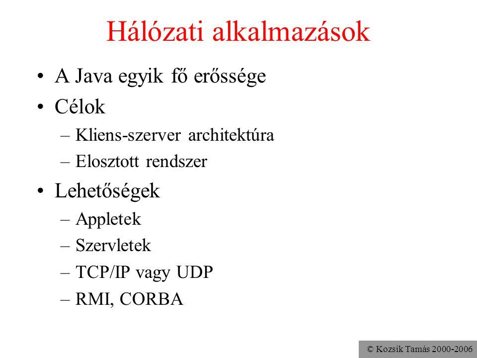 Hálózati alkalmazások