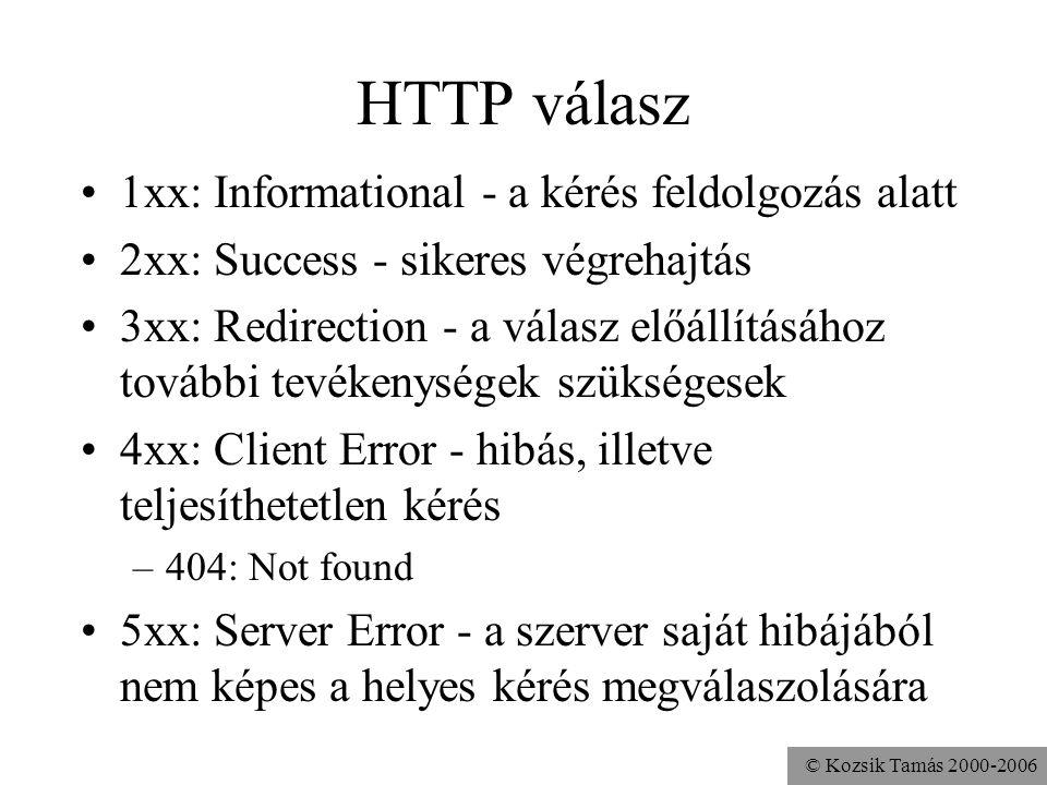 HTTP válasz 1xx: Informational - a kérés feldolgozás alatt