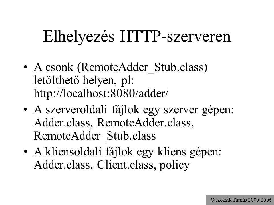 Elhelyezés HTTP-szerveren