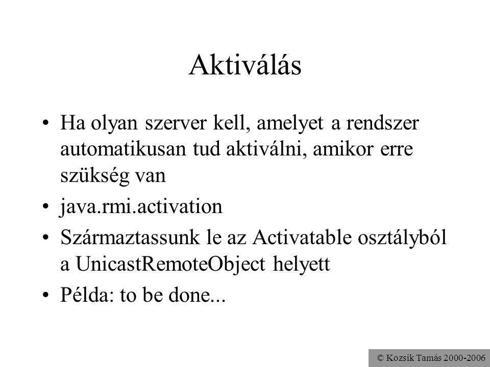 Aktiválás Ha olyan szerver kell, amelyet a rendszer automatikusan tud aktiválni, amikor erre szükség van.