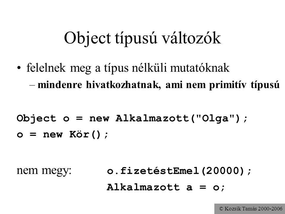 Object típusú változók