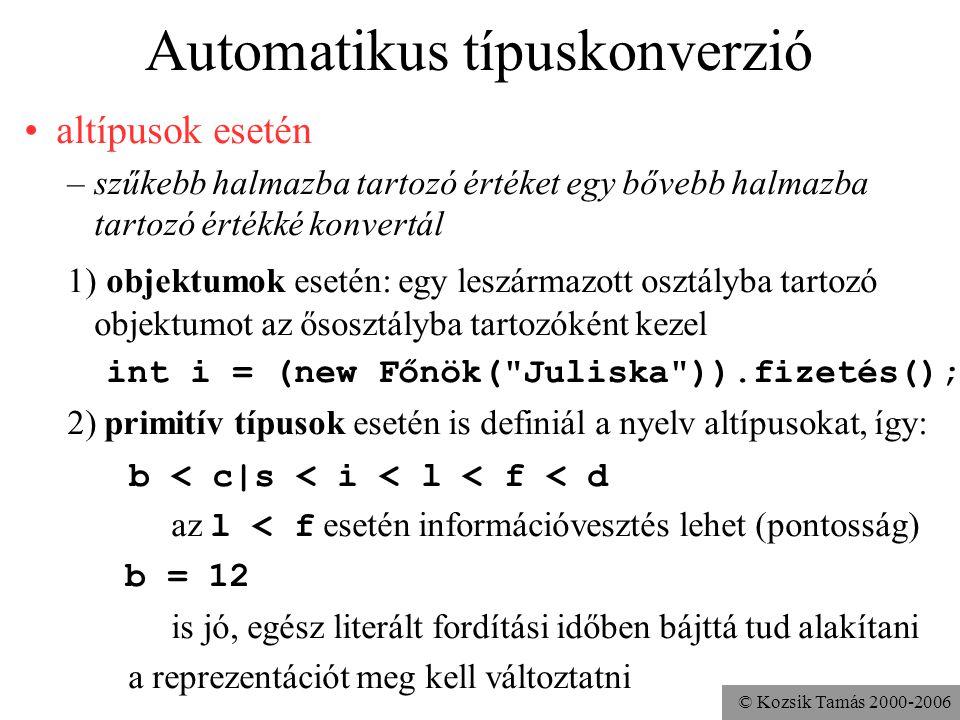 Automatikus típuskonverzió