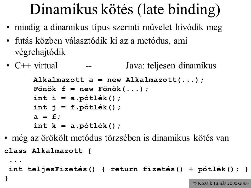 Dinamikus kötés (late binding)