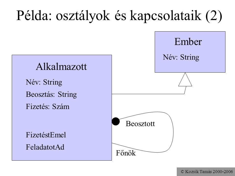 Példa: osztályok és kapcsolataik (2)