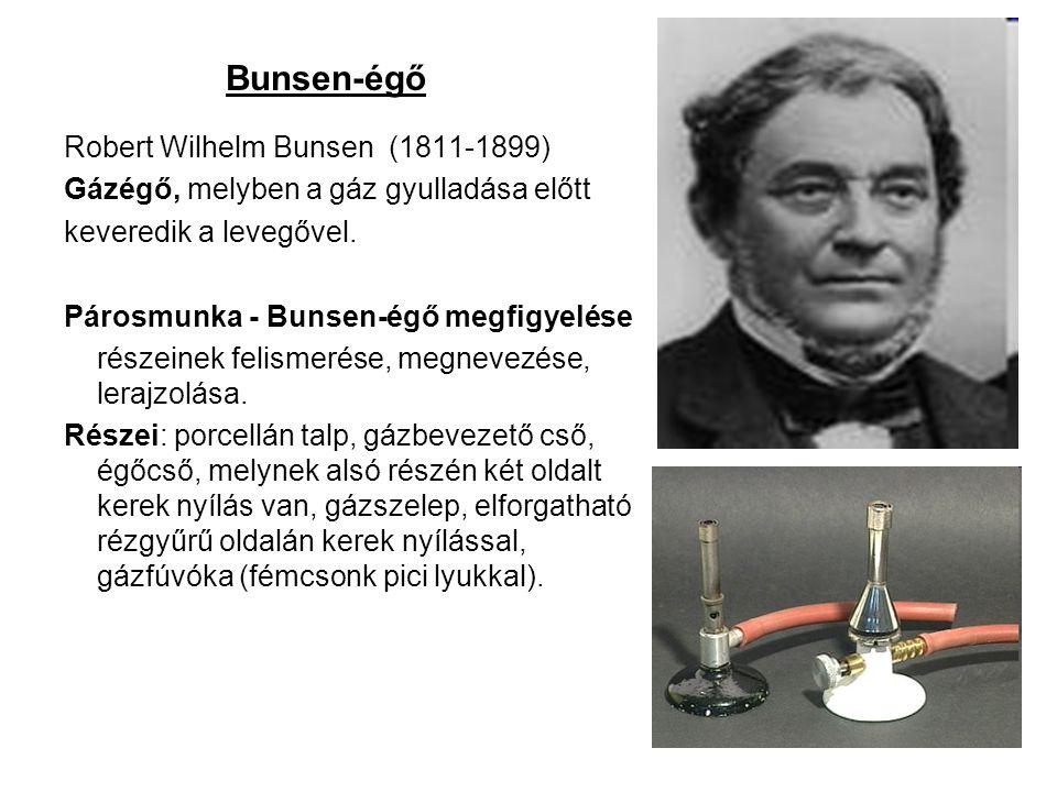Bunsen-égő Robert Wilhelm Bunsen (1811-1899)