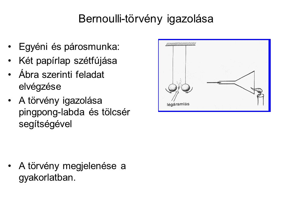 Bernoulli-törvény igazolása