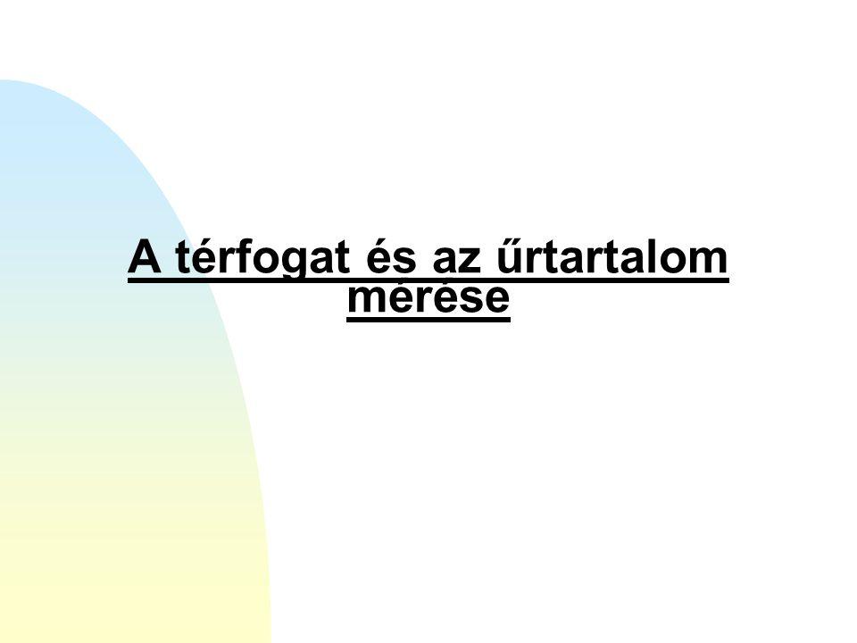 A térfogat és az űrtartalom mérése