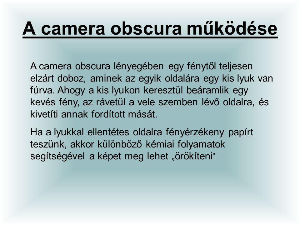 A camera obscura működése