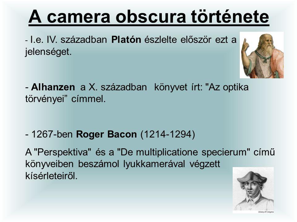 A camera obscura története