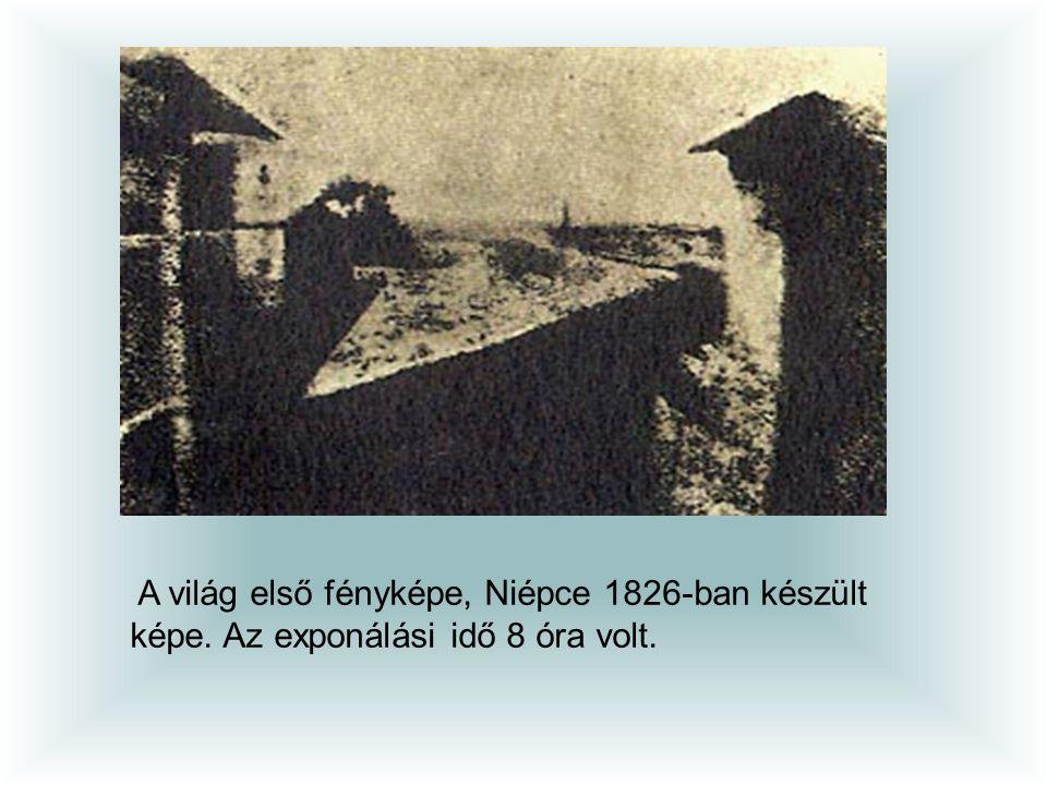 A világ első fényképe, Niépce 1826-ban készült képe