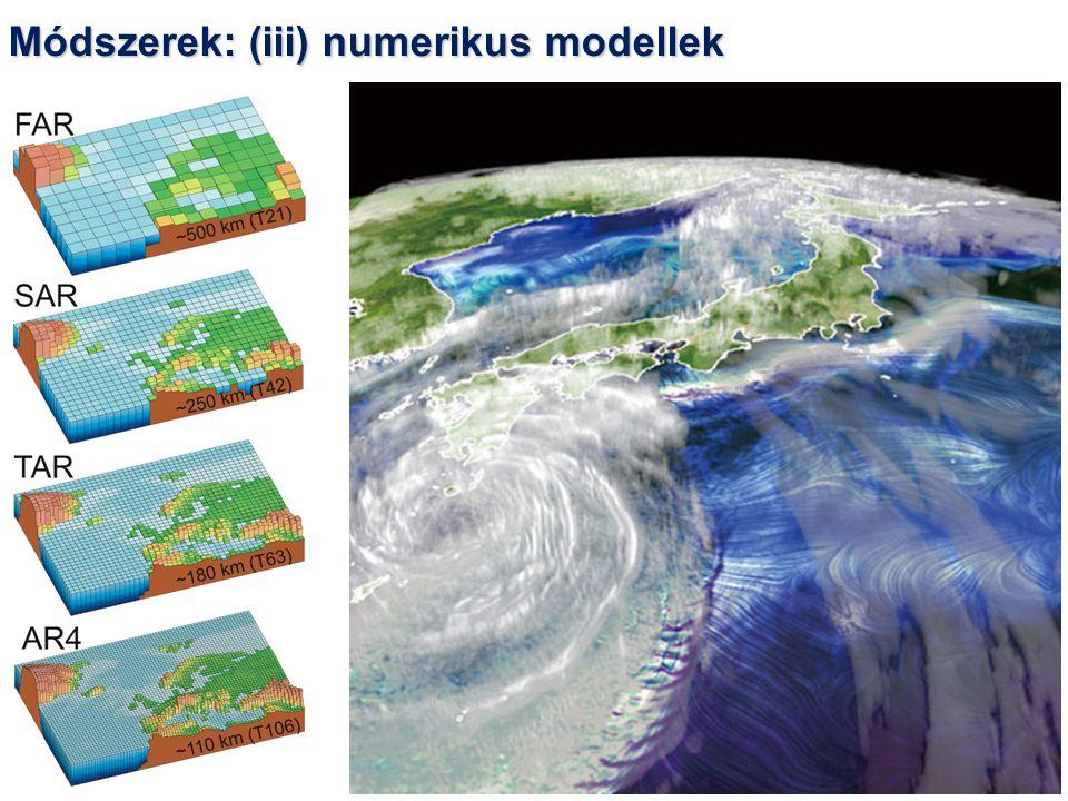 Módszerek: (iii) numerikus modellek