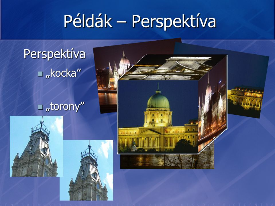 """Példák – Perspektíva Perspektíva """"kocka """"torony"""
