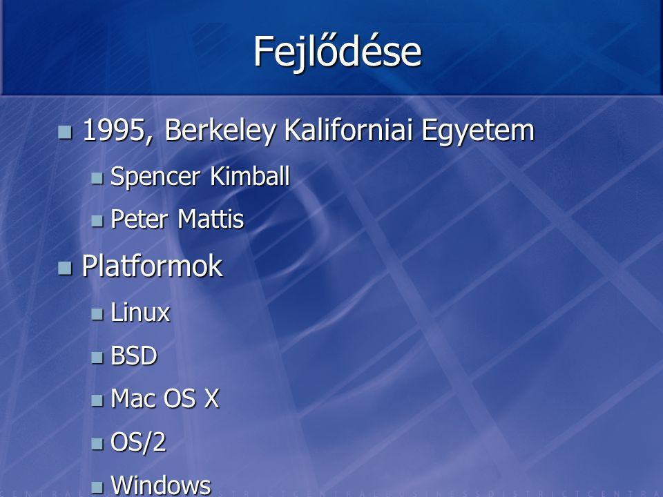 Fejlődése 1995, Berkeley Kaliforniai Egyetem Platformok