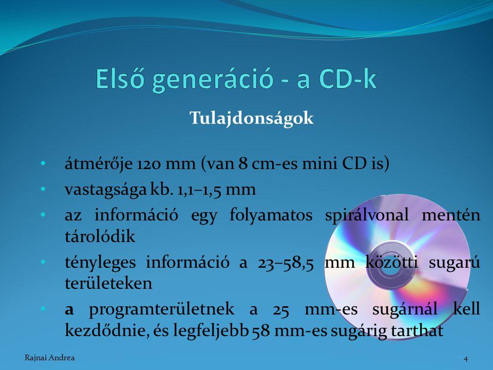 Első generáció - a CD-k Tulajdonságok