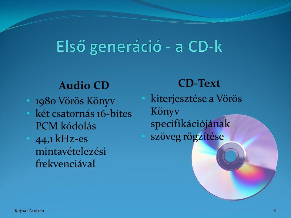 Első generáció - a CD-k CD-Text Audio CD