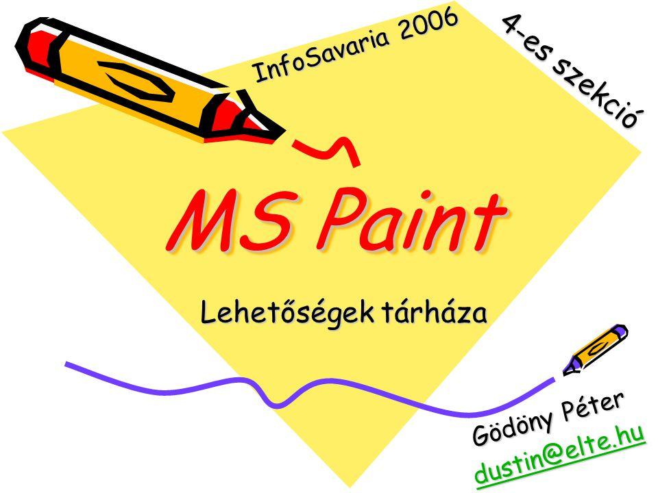 MS Paint 4-es szekció Lehetőségek tárháza InfoSavaria 2006