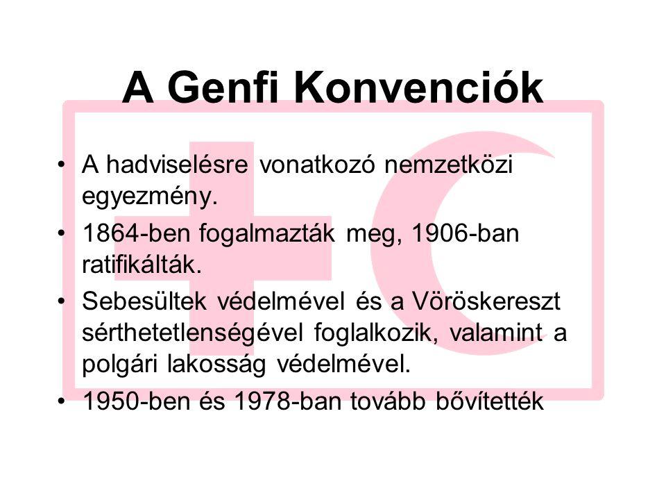 A Genfi Konvenciók A hadviselésre vonatkozó nemzetközi egyezmény.