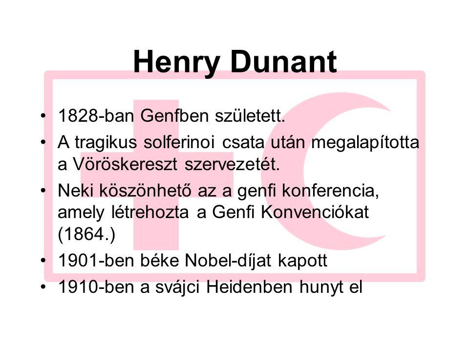 Henry Dunant 1828-ban Genfben született.