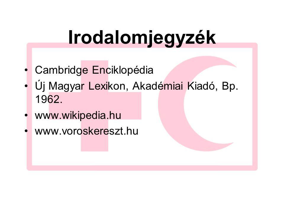 Irodalomjegyzék Cambridge Enciklopédia