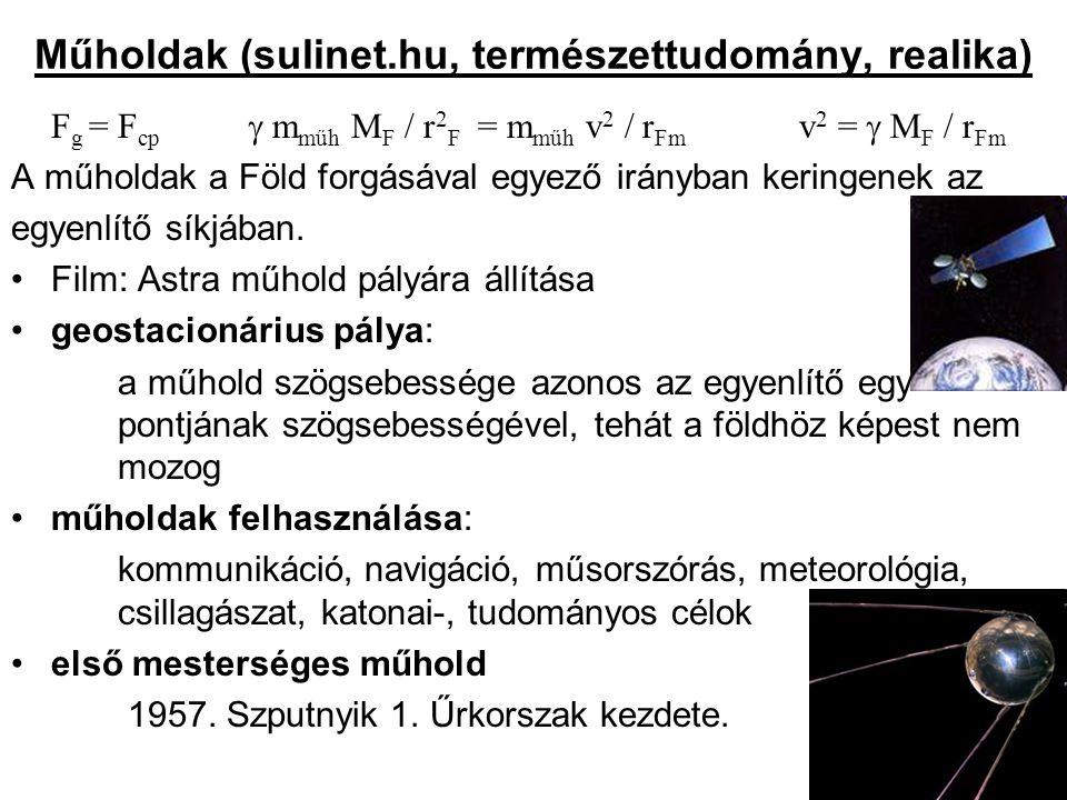 Műholdak (sulinet.hu, természettudomány, realika)