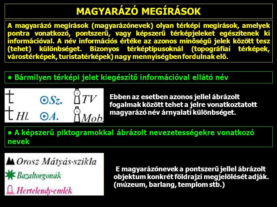 MAGYARÁZÓ MEGÍRÁSOK