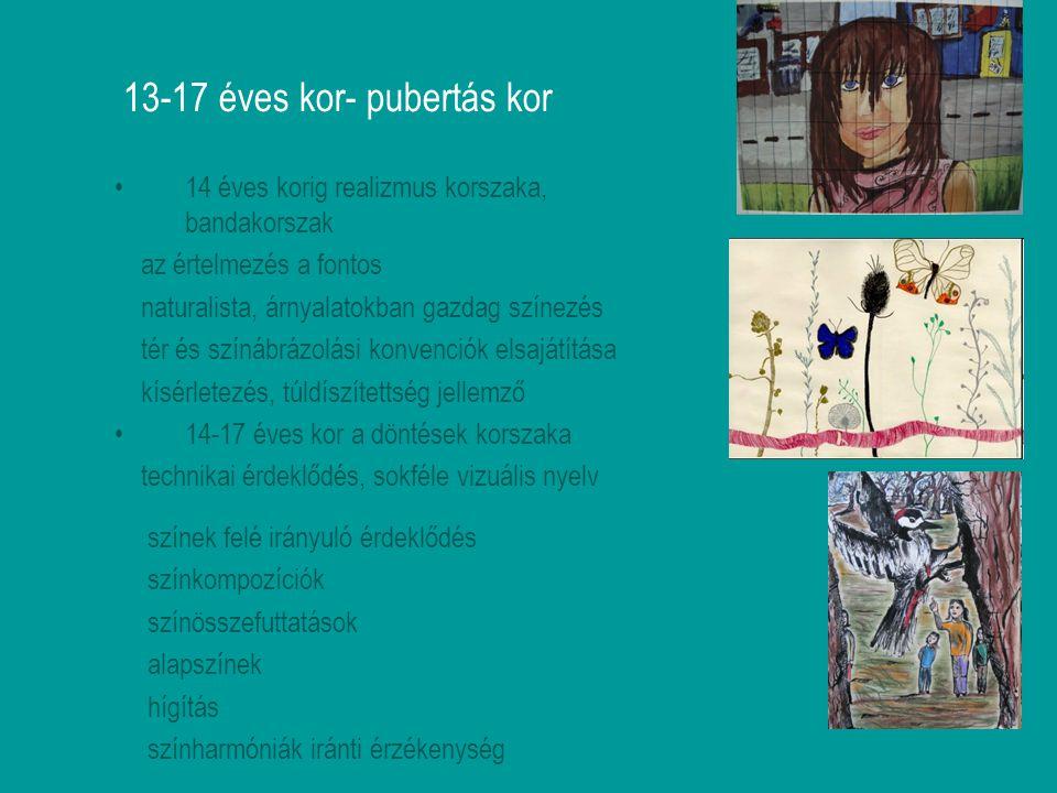 13-17 éves kor- pubertás kor
