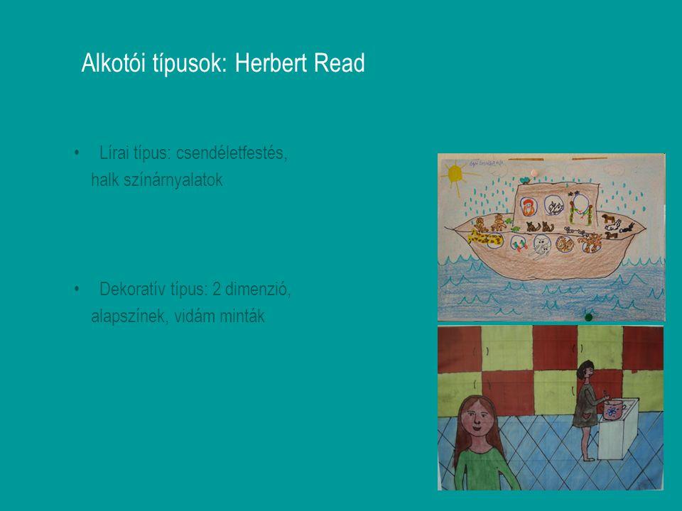 Alkotói típusok: Herbert Read