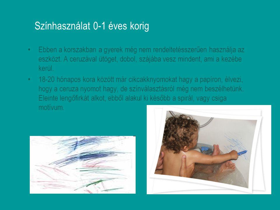 Színhasználat 0-1 éves korig