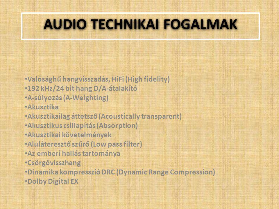 Audio technikai fogalmak