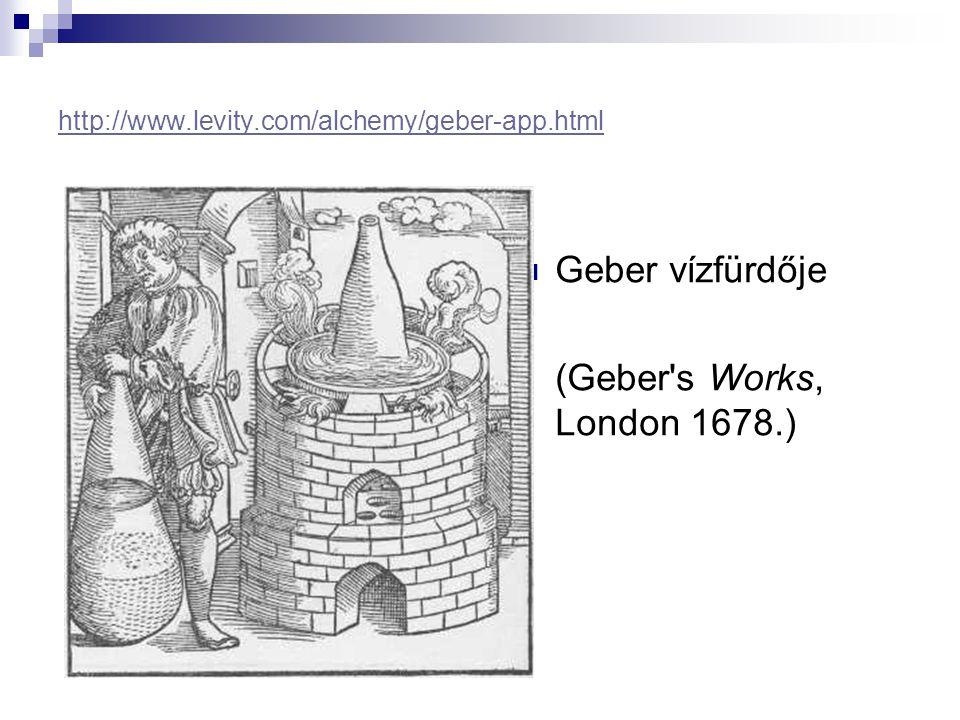 Geber vízfürdője (Geber s Works, London 1678.)