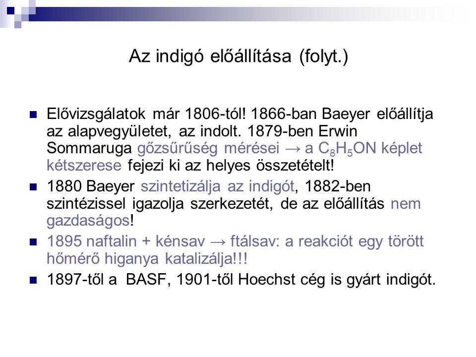 Az indigó előállítása (folyt.)