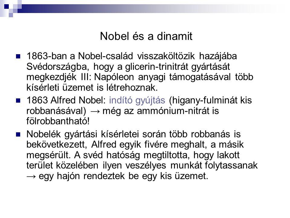 Nobel és a dinamit