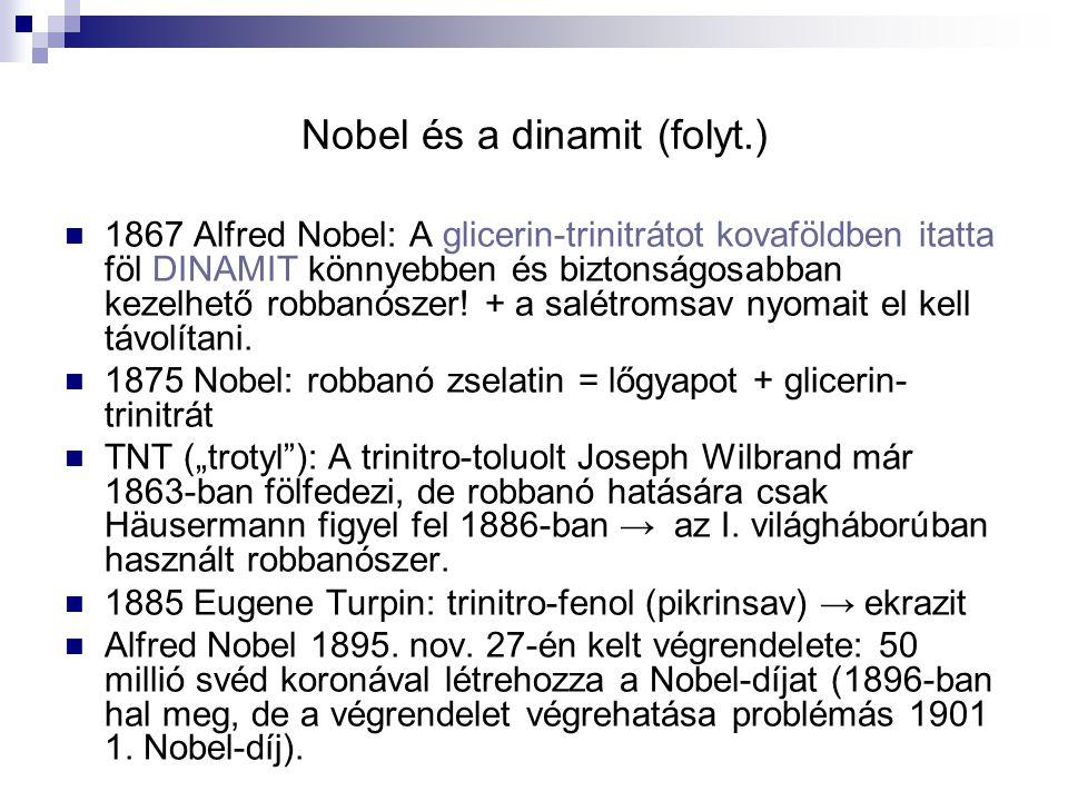 Nobel és a dinamit (folyt.)