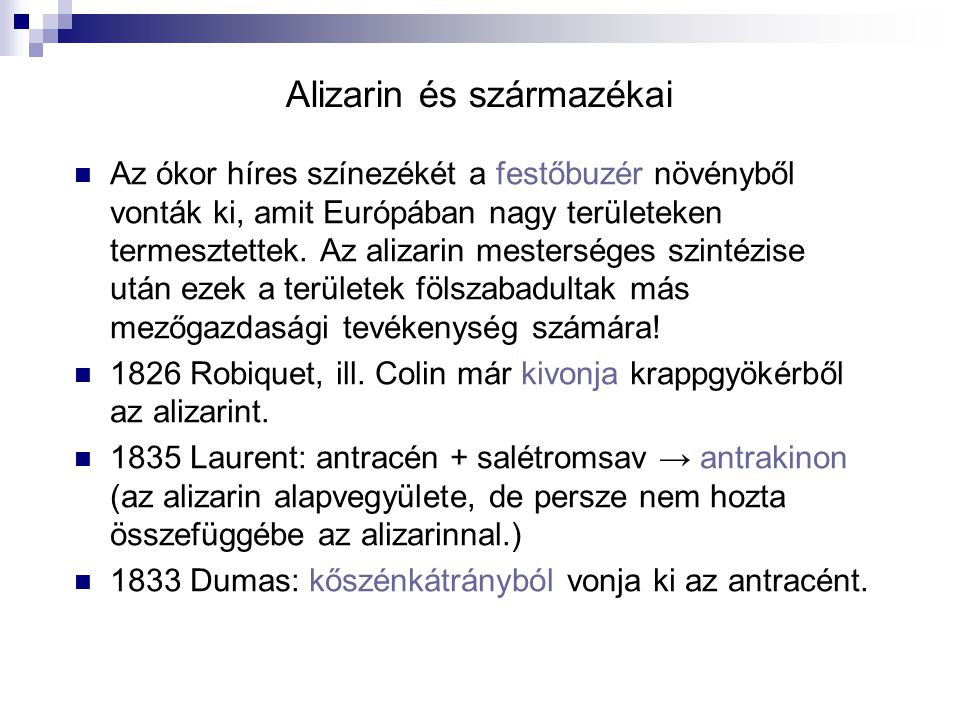 Alizarin és származékai