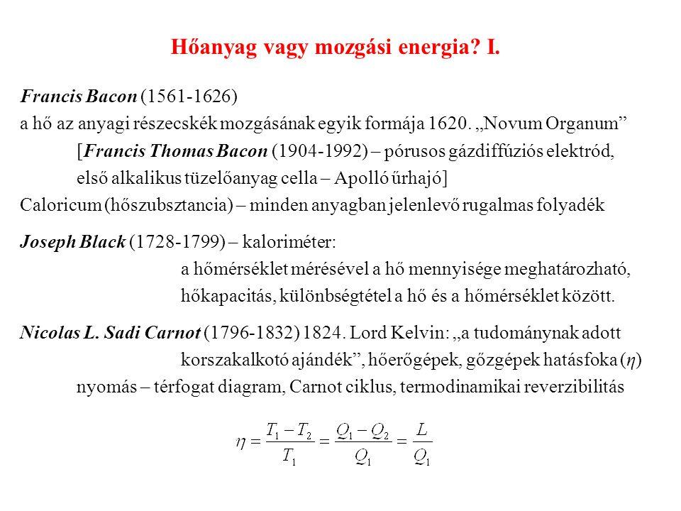 Hőanyag vagy mozgási energia I.