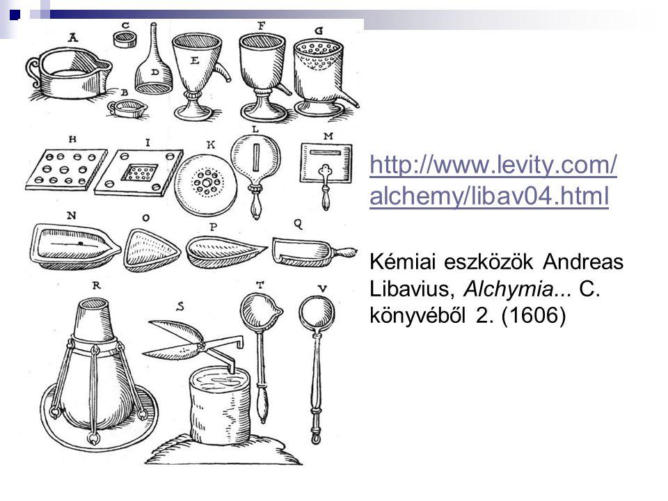 http://www.levity.com/alchemy/libav04.html Kémiai eszközök Andreas Libavius, Alchymia...