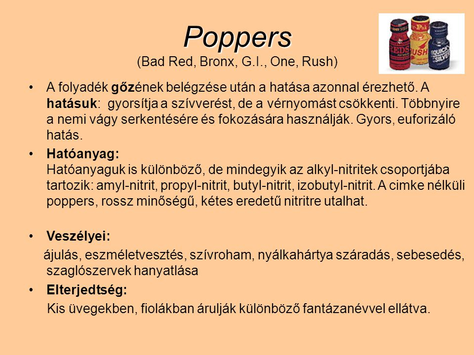 Poppers (Bad Red, Bronx, G.I., One, Rush)