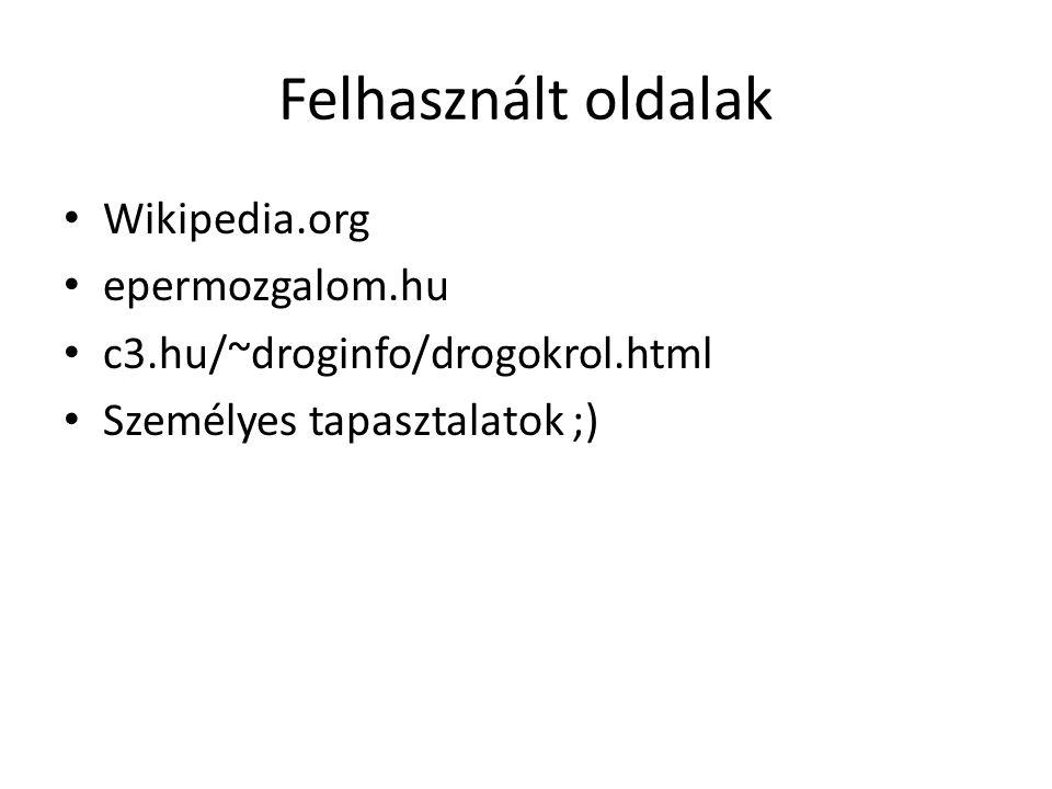 Felhasznált oldalak Wikipedia.org epermozgalom.hu