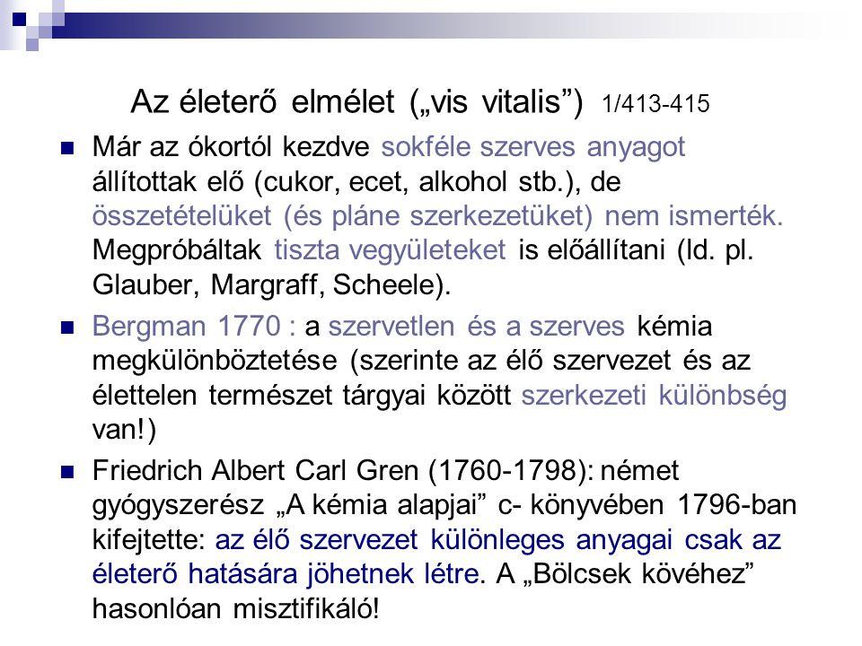 """Az életerő elmélet (""""vis vitalis ) 1/413-415"""