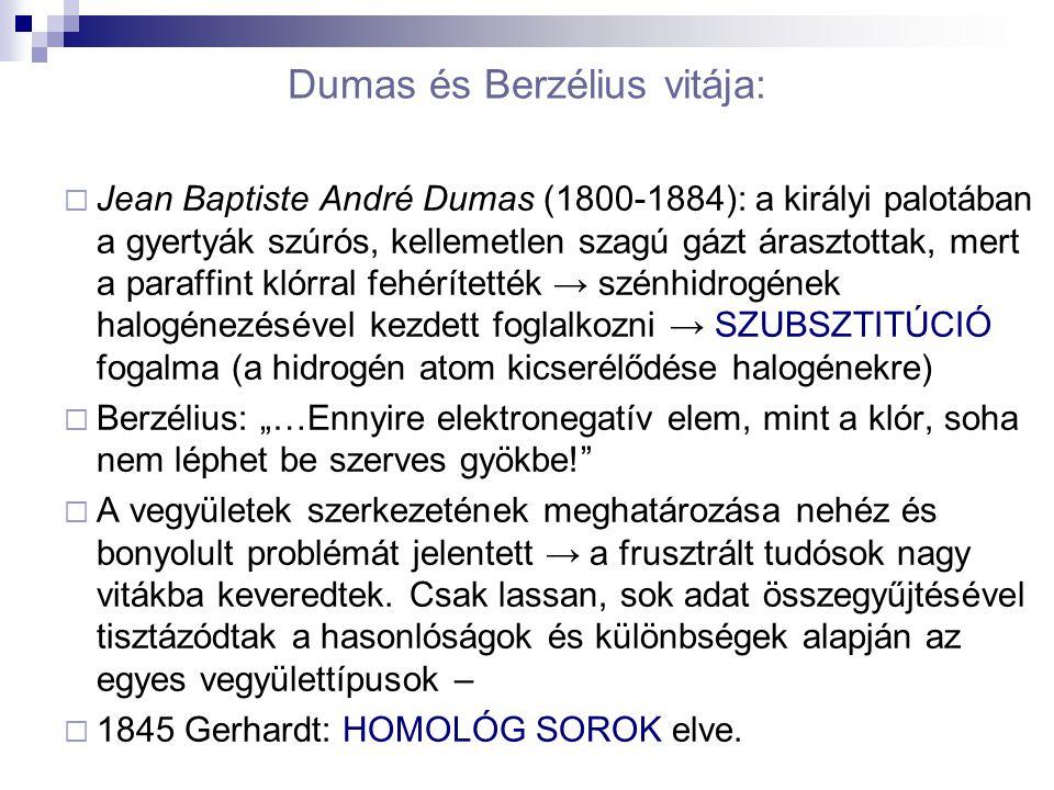 Dumas és Berzélius vitája: