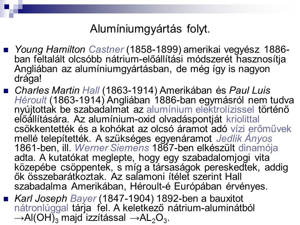 Alumíniumgyártás folyt.