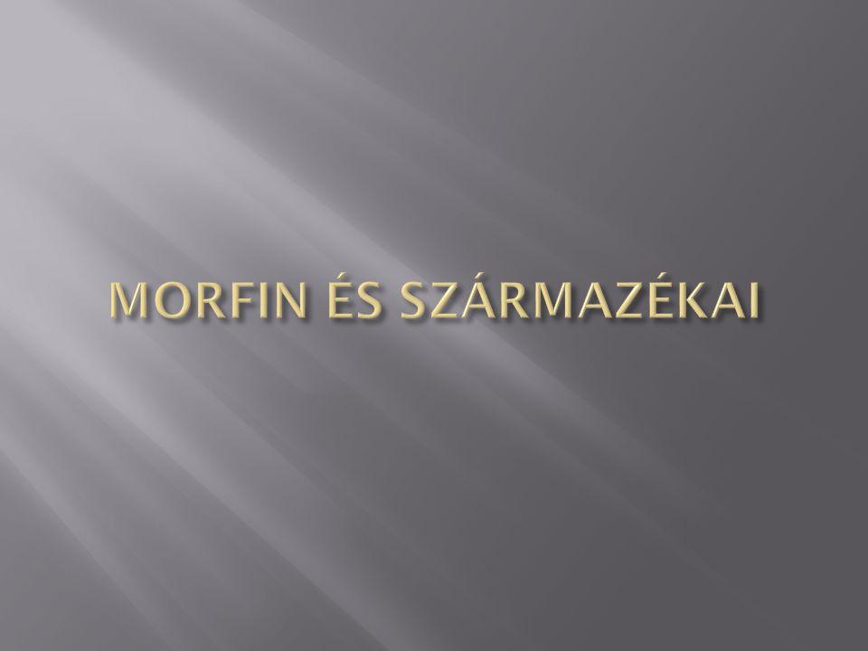 MORFIN ÉS SZÁRMAZÉKAI