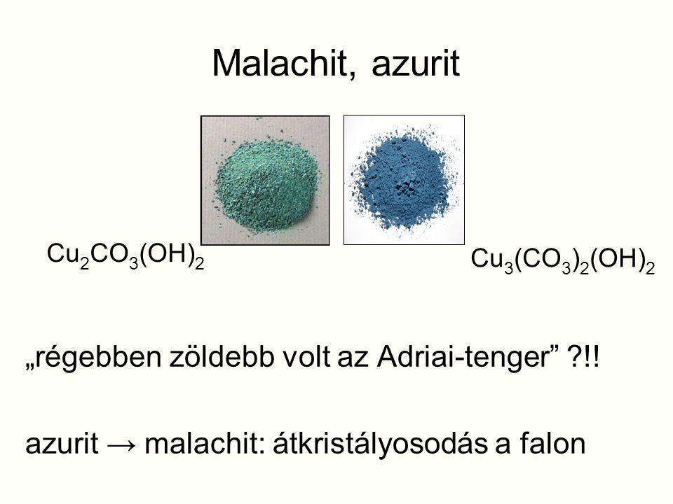 """Malachit, azurit """"régebben zöldebb volt az Adriai-tenger !!"""
