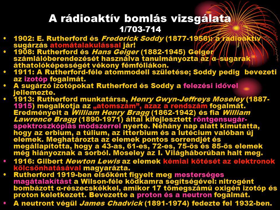 A rádioaktív bomlás vizsgálata 1/703-714