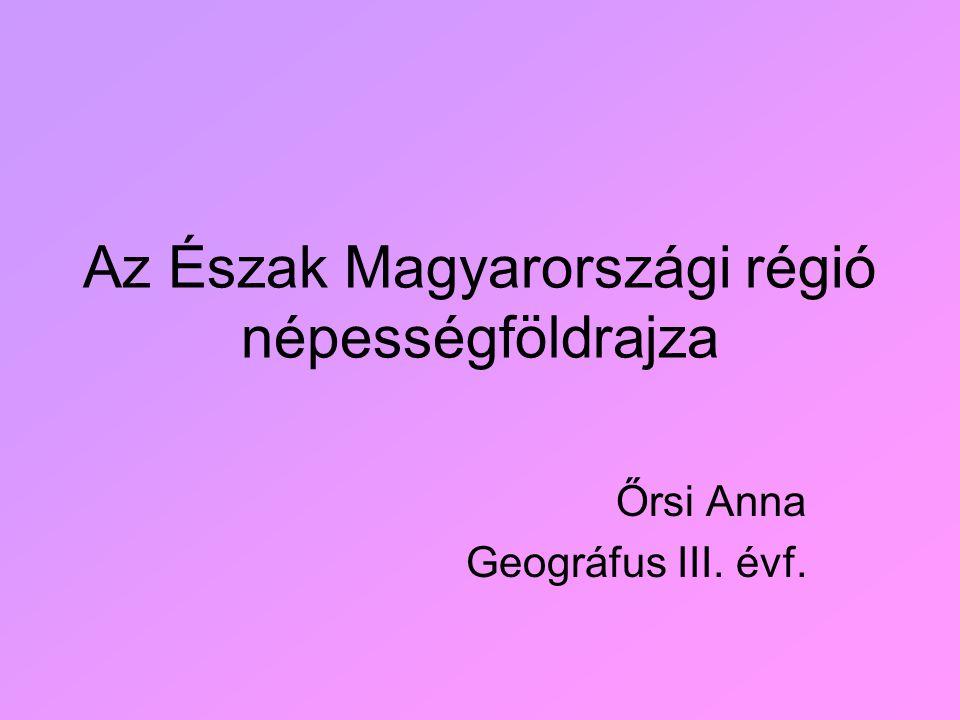 Az Észak Magyarországi régió népességföldrajza