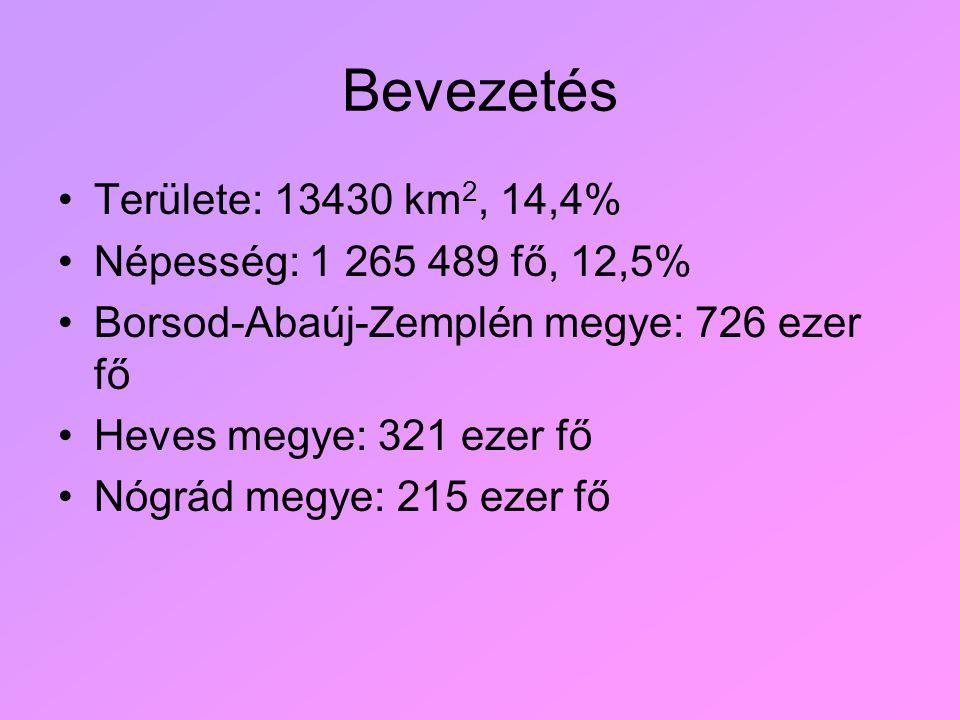 Bevezetés Területe: 13430 km2, 14,4% Népesség: 1 265 489 fő, 12,5%