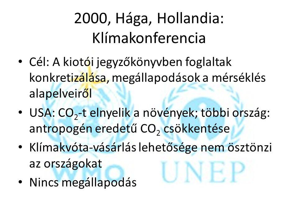 2000, Hága, Hollandia: Klímakonferencia